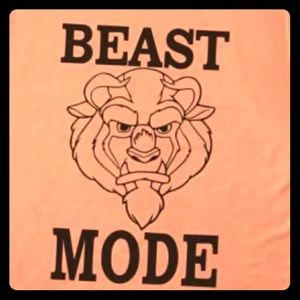 Tops - Beast Mode-Disney vinyl shirt- Perfect for workout